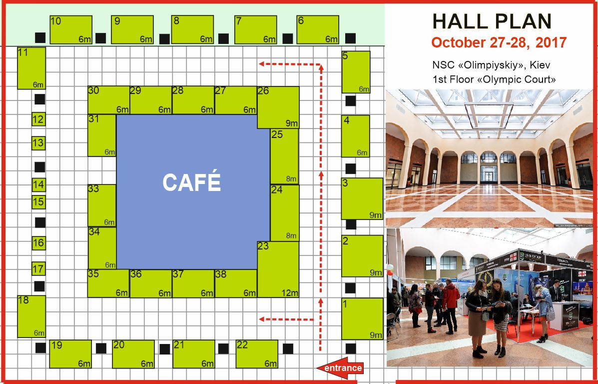 Plan of the exhibition hall October 27-28, 2017